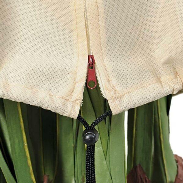 Lichtdurchlässige Winterschutz Haube mit Reißverschluss