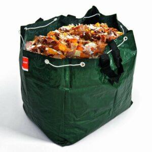 Gartensack Gartentasche Laubsack gefüllt mit Laub
