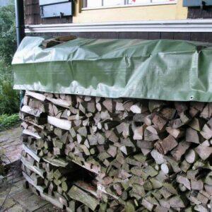 Holz-Abdeckplane 210g/m² ca.1,50 x 6 m grün Anwendung