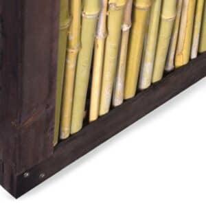 Bambuszaun Schrägelement Detail