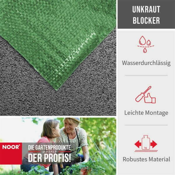Noor Unkrautblocker grün Vorteile