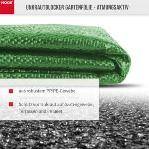 Noor Unkrautblocker grün aus robustem PP/PE-Gewebe