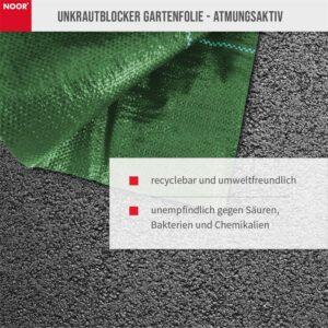 Noor Unkrautblocker grün recyclebar und umweltfreundlich