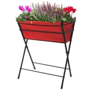 Hochbeet Poppy Go rot mit Blumen