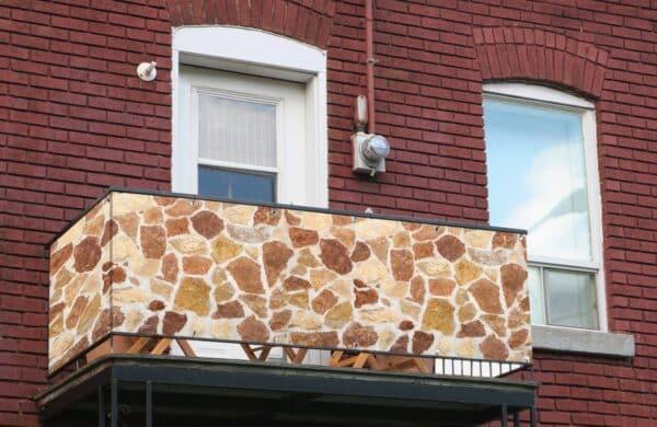 Sichtschutz Giraffe an Balkon