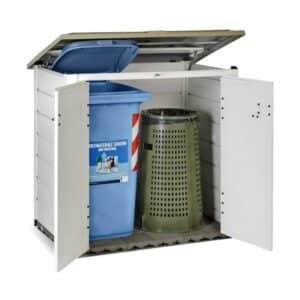 Mülltonnenbox EVO 100 131 x 88 x 133 cm V50.08.004 mit Inhalt