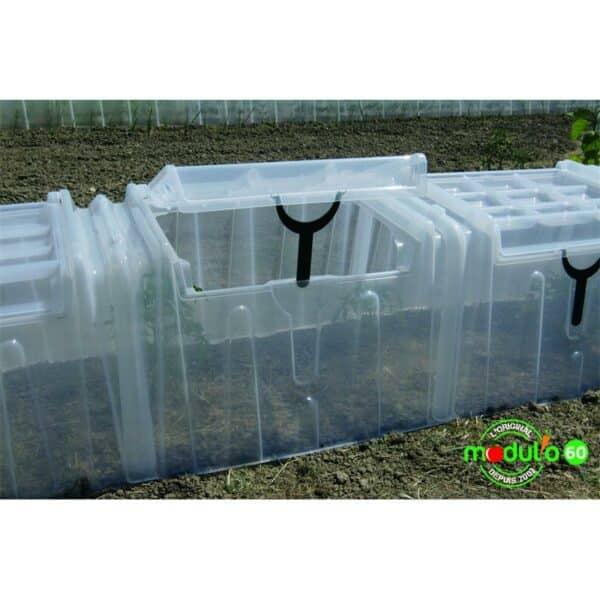 Modulo Pflanztunnel Anwendung in Gemüsebeet