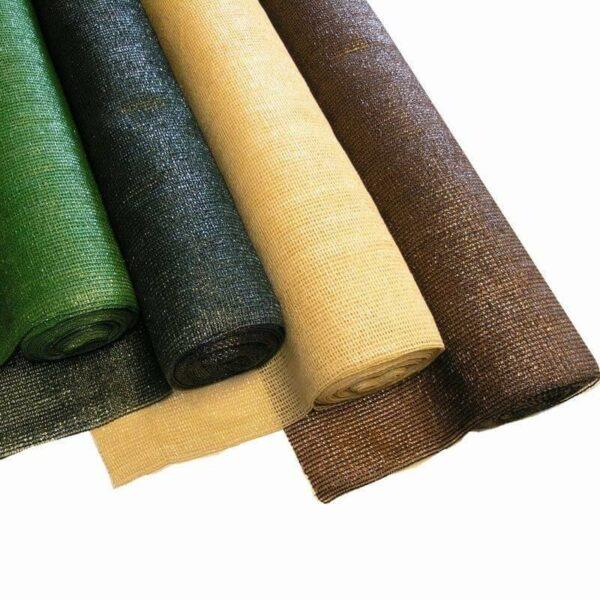 Schattiergewebe Schattiernetz Sonnenschutz 100% versch. farben
