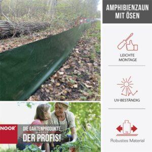 Amphibienzaun 120 g/m2, 0,5 x 25 m grün B-Ware Vorteile